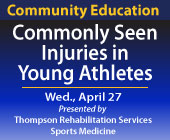 Commonly Seen Injuries in Young Athletes