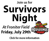 Cancare Survivor Night at Frontier Field