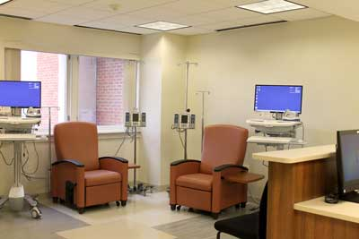Wilmot Infusion center at Sands Cancer Center