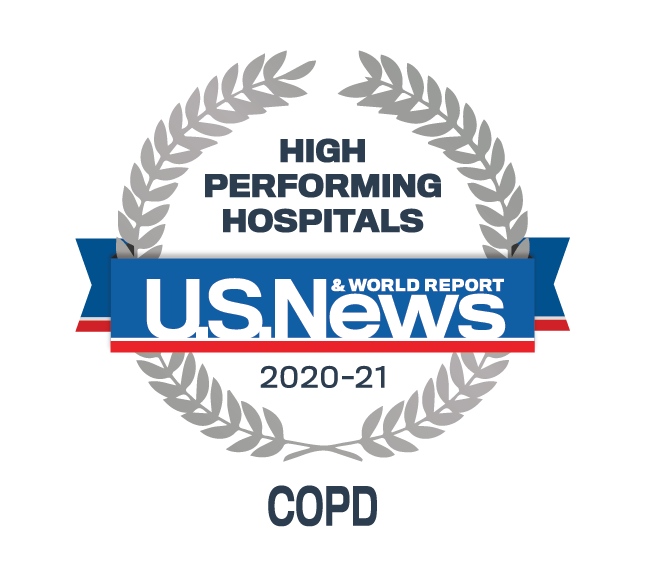 U.S News & World Report High Performing Hospital - COPD