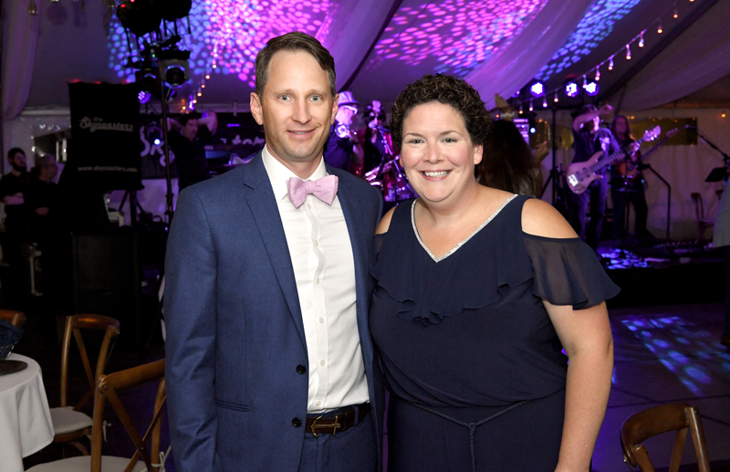 2019 Summer Soirée - Dr. Justin Weis, the medical director of Respiratory Medicine and the ICU at Thompson HospitalMary Kate Corey director of the ICU and Observation Nursing,