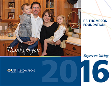 Thompson Foundation Report on Giving